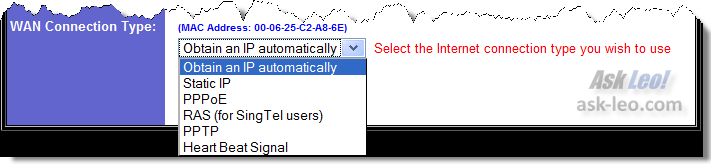 Router IP Configuration