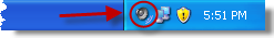 The sound icon in Windows XP