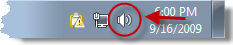 The sound icon in Windows 7