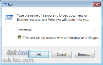 The Vista Start/Run dialog