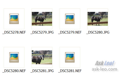 Windows Explorer Thumbnail View - Including filename extensions