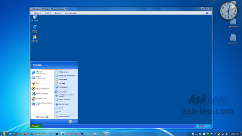 Windows XP Mode within Windows 7
