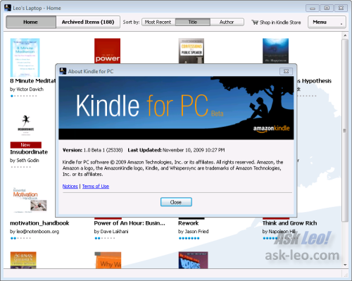 Kindle on the PC