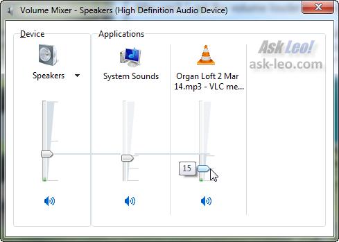 The Windows 7 Mixer