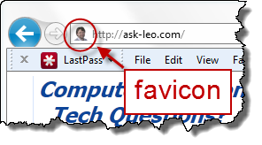 Ask Leo!'s favicon in the address bar