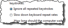 Ignore all repeated keystrokes