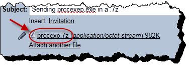 Gmail sending a .7z archive