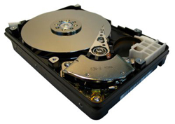An opened Hard Disk