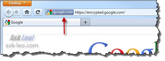 https indicator for encrypted.google.com in FireFox 4