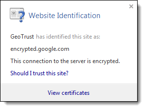 Additional security information about an https site