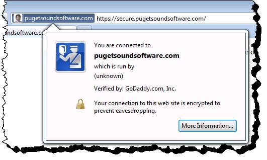 https information for secure.pugetsoundsoftware.com