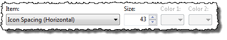 Icon Spacing (Horizontal) in the Window Color and Appearance dialog