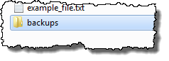 Newly created folder, renamed
