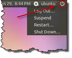 Ubuntu Power menu