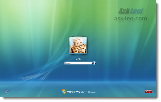 Windows Vista Login Screen
