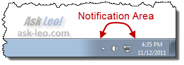 Windows 7 Notification Area