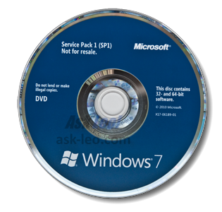 Windows 7 SP1 on DVD