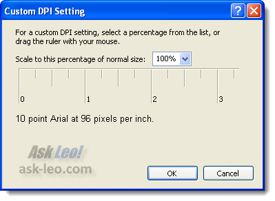 XP Custom DPI setting
