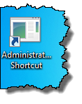 Shortcut to the administrative task