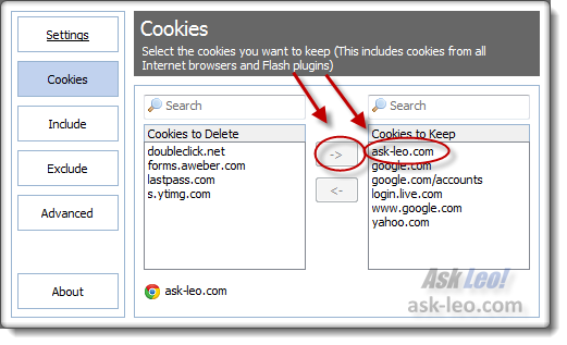ask-leo.com added to cookies to keep
