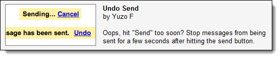 GMail's 'Undo Send' feature