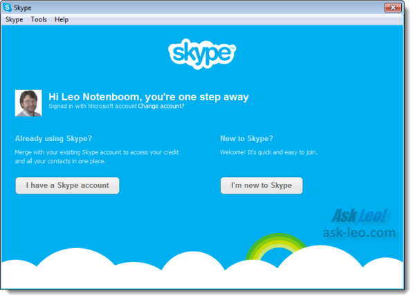 Skype Installer Account Merge