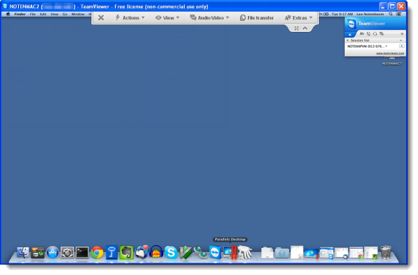TeamViewer open to remote Mac