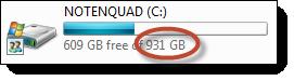 A terabyte drive in Explorer