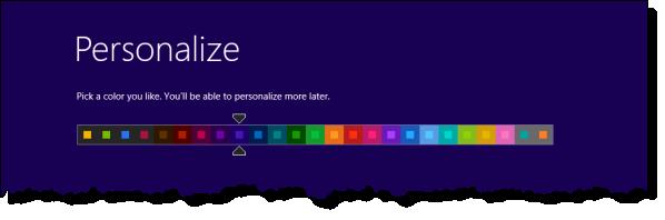 Windows 8 Setup Color Choice