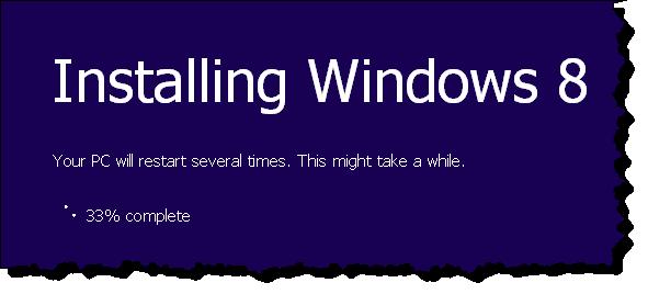 Windows 8 Setup Installing