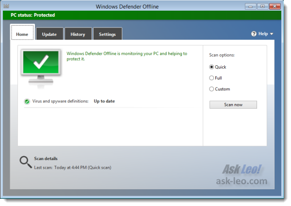 Windows Defender Offline - done