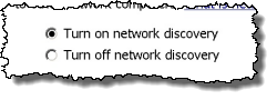 Network Discovery option
