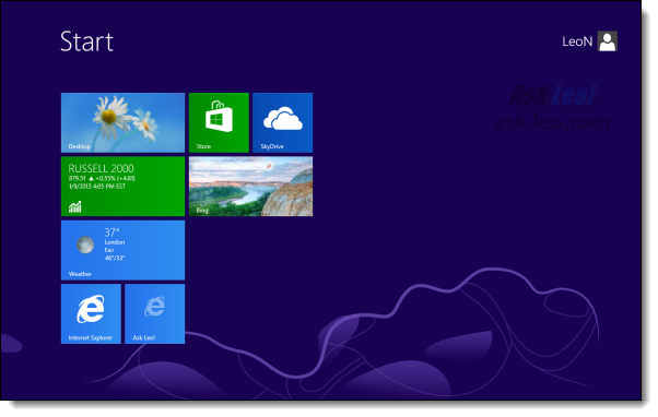 Leo's Windows 8 Start Menu
