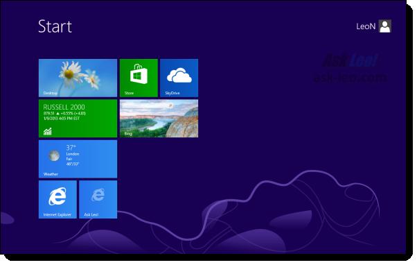 Leo's Windows 8 Start Menu