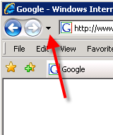 Back List dropdown button in IE 7