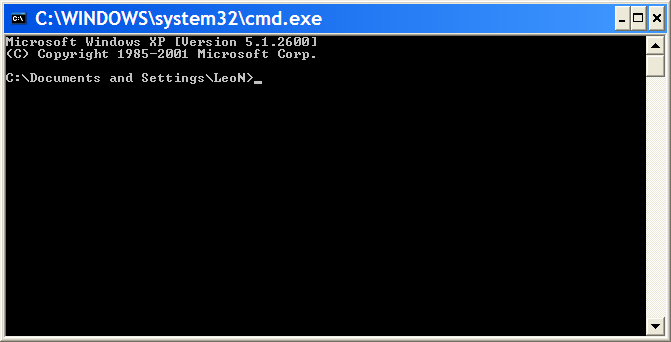 Empty Command Prompt Window