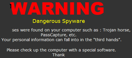 Malware-created desktop warning