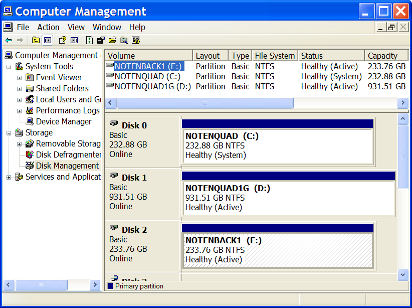 Windows Disk Management Application