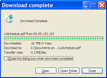 Download Complete Dialog