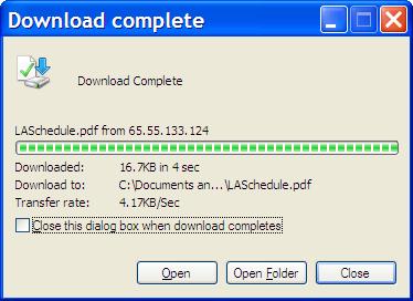Download Complete Dialog