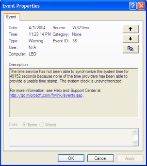 Event Viewer Details