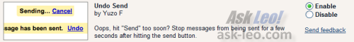 GMail's Undo Send option