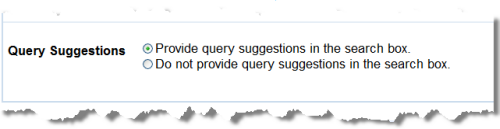Google's Query Suggesions option