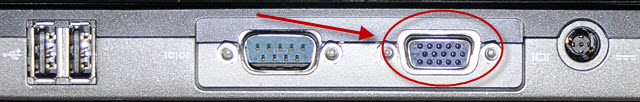 Laptop VGA connector