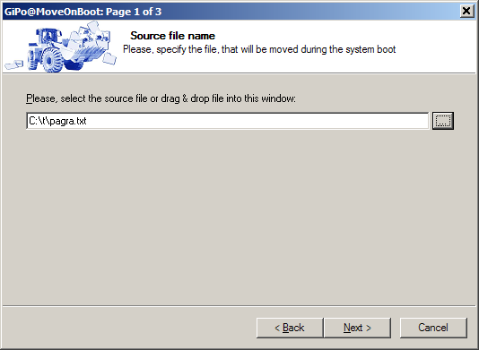MoveOnBoot - specify filename