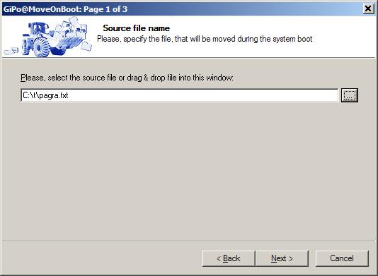 MoveOnBoot - specify filename