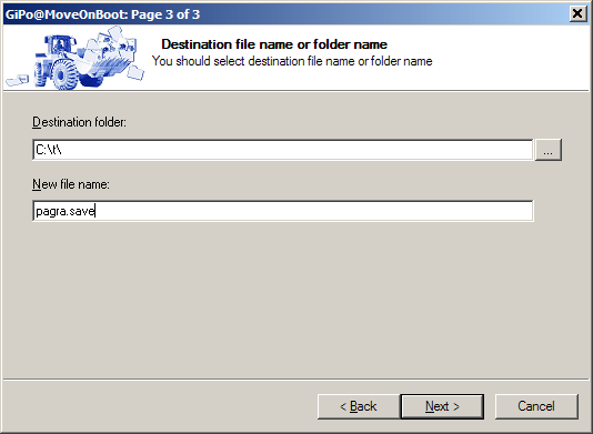 MoveOnBoot - specify move destination