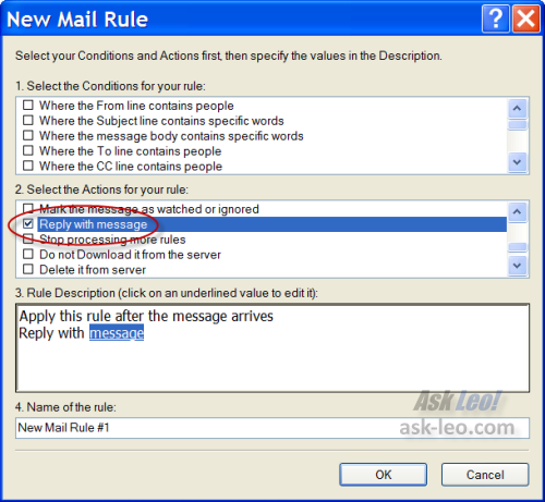 Auto Respond in Outlook Express