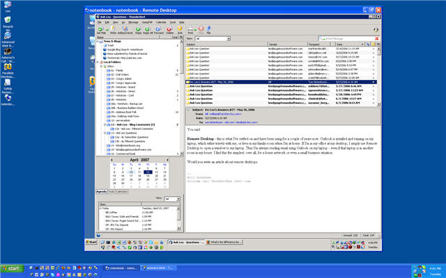 Remote Desktop Example