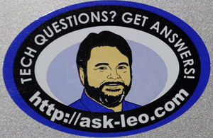 Ask Leo! Laptop Sticker